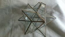 Vintage Glass Star Shaped Ceiling Light Shade 24 cm x 22 cm