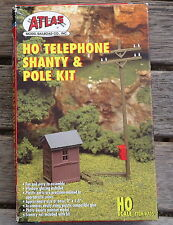 Atlas Telephone and Shanty and Pole Kit  Building KIT HO Scale (1:87)