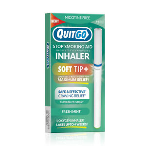 QuitGo Fresh Mint Flavored for Smoking Cessation Inhaler with Soft Tip 1 Pack