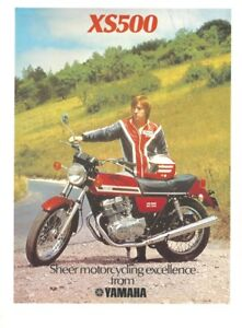 A 1977 Magazine Advertisement for the - Yamaha XS500 Eight Valve Parallel Twin