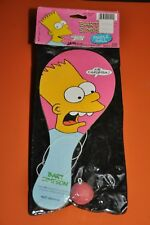 """The SIMPSONS-BART SIMPSON """"PADDLE BALL"""" by JARU/1990=UNOPENED"""