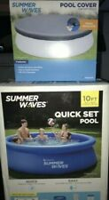 Summer Waves 10ft x 30in Quick Set Pool with Filter and Pool Cover