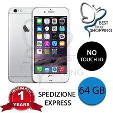 IPHONE 6 RIGENERATO  64GB SILVER ORIGINALE APPLE + GARANZIA 1 ANNO + NO TOUCH ID
