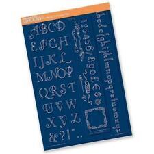 Groovi Plate Mate Art Deco Alphabet for Border Plates