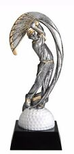 """Male Golf Resin Trophy Award 10"""" Tall Free Lettering Available 3 Sizes! M-Mx903"""