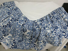 RALPH LAUREN Blue & White PORCELAIN BLUE TAMARIND Queen COTTON Bed Skirt