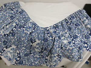 RALPH LAUREN Blue & White PORCELAIN BLUE TAMARIND Twin COTTON Bed Skirt