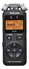 Tascam DR-05 Linear PCM Handheld Portable Digital Audio Recorder (Black)