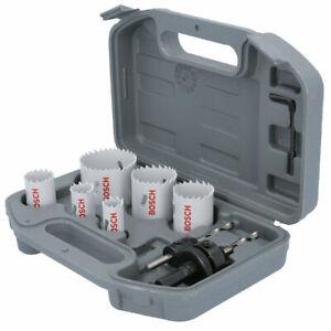 Bosch 2608580803 8 Piece HSS Bi-Metal Plumbers Holesaw Drill Set