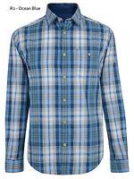 ESPRIT Mens Regular Long Sleeve Check Shirts Casual Cotton Shirt Ocean Blue S