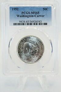 1952-P PCGS MS65 Washington-Carver Silver Commemorative Half Dollar 50C
