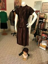 Vtg Hollywood Paramount 1930/40's 3 Piece Satin Outfit/Jacket/Skirt/Hat !