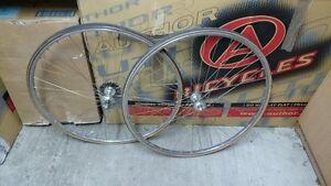 Retro road wheels MICHELIN AMBROSIO REGINA ORO 700C 28' 36 spokes