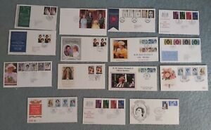 15 Royalty related First day covers most with Special Handstamps + Free Album