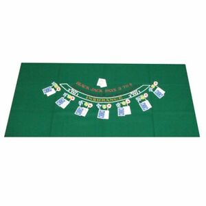 Casino Game Layout for BLACKJACK, 3' x 6' Size, High Quality Green Felt