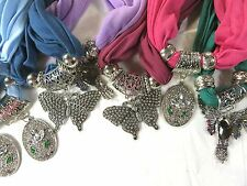 US SELLER-lot of 10 jewelry pendant scarves wholesale bulk women gift fashion