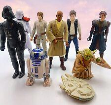 """Mixed Star Wars Lot 2-4.5"""" Figures Mostly Hasbro (1977 Darth Vader)"""