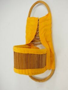 """Vintage Mini Apache Native American Papoose Baby Carrier 10"""""""