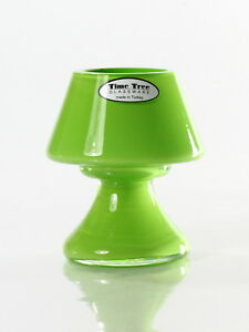 Time Tree Turkish Glass Apple Green Color Candle Tea Light Holder Height 10.5cm