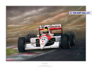 Ayrton Senna Brazilian Formula One F1 Racing Car Print Painting Picture Ltd. Ed