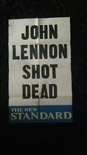 JOHN LENNON SHOT DEAD Newspaper Advertising Poster, Print, ORIGINAL