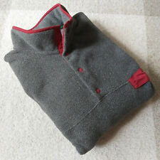 Patagonia Men's Synchilla Snap T Fleece Gray Red Pullover Jacket Size XL EUC