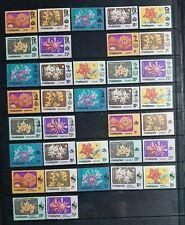 14 STATES OF MALAYSIA 1979 FLOWERS DEFINITIVE FULL SET MNH OG FRESH