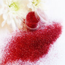 Nail Art Valentine Red Ruby Sparkle Glitter Powder Dust Mix Pot Tip Decoration