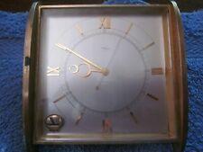 Vintage Imhof Swiss 15J - 24 297 Heavy Brass Desk/Table Clock For Parts Repair