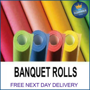 1 ROLL Paper Banquet Roll Party Wedding Table Cover Multi Colours 7m and 25m