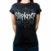 Slipknot T Shirt Evil Witch Band Logo new Official Womens Skinny Fit Black