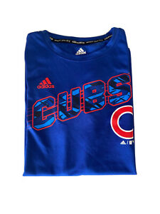 Chicago Cubs Adidas Climalite Blue T-Shirt Size Boy's Medium