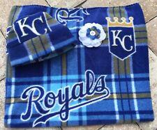 Kansas City Royals Fleece Newborn Infant Baby Receiving Blanket & Hat Gift Set