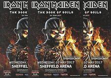 Iron Maiden - 2017 Sheffield Arena Concert FLYERS x 3