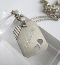 Silber Namen Anhänger Isabella mit Silberkette 835 Silber