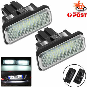 For Mercedes-Benz R171 2D Number License Plate Lights Lamp Assembly Tail LED 2PC