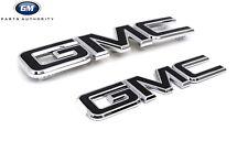 2016-2018 GMC Sierra Black Emblem Package 84395038 Front & Rear OEM GM