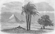 EGYPT. Prince of Waless visit to. Gt Pyramid, antique print, 1862