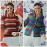 KNITTING PATTERN Ladies Jumper or Jacket with Collar DK King Cole 3949