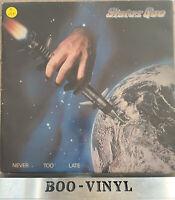 STATUS QUO - NEVER TOO LATE - LP VINYL RECORD 6302 104 EX / VG+ Con