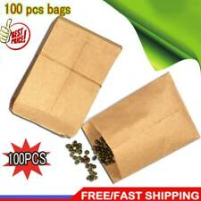 100 pcs/pack Small Kraft Paper Gift Candy Bag Vintage Paper Brown 6*10cm R1U9