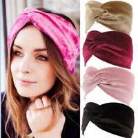 Ladies twist knot Elastic headband elastic head wrap turban hair band Fashion