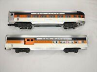 Custom Made Lionel Aluminum Silver Veranda Observation Car & Combo Car NYN&H RR