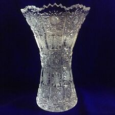 Bohemia Crystal Vase Hourglass Shape 500PK Classic Cut, Hand Made, BNIB