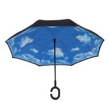 Parapluie Inverse Pliant De Ciel Nuage Parapluies De Voitures De Pluie Anti X2W3