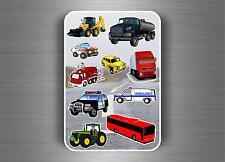 Sette 10x Sticker adesivi adesivo bambini parete scrapbooking auto camion