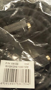 New 15M MALE TO MALE SVGA VGA MONITOR LEAD CABLE GOLD PLATED. FEDEX SHIPPING