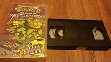 TEENAGE MUTANT HERO TURTLES THE CASE OF THE KILLER PIZZAS - VHS VIDEO TAPE