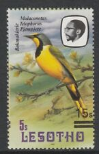Lesotho 4325 - 1986 BIRDS - SHRIKE with SURCHARGE AT RIGHT  unmounted mint