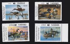 US ND62, ND65, ND67 & ND69 $6 North Dakota State Duck Stamp Lot SCV $32